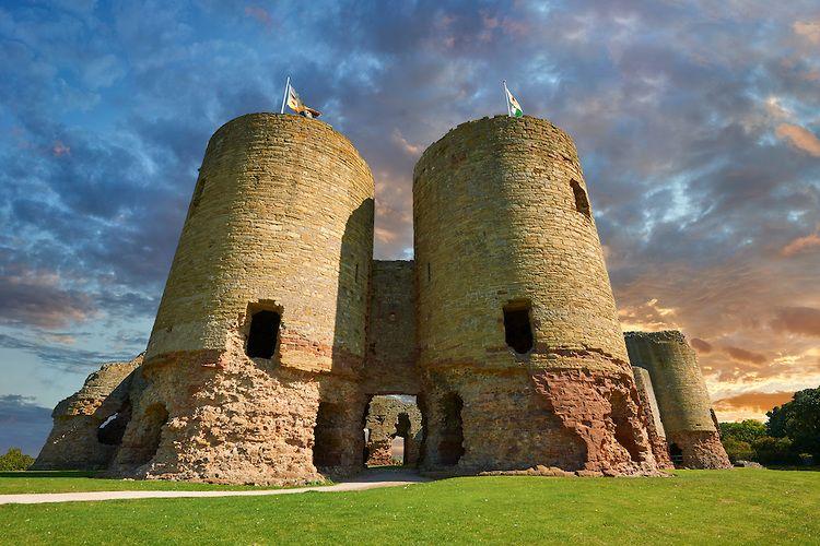 castillo de Rhuddlan en gales