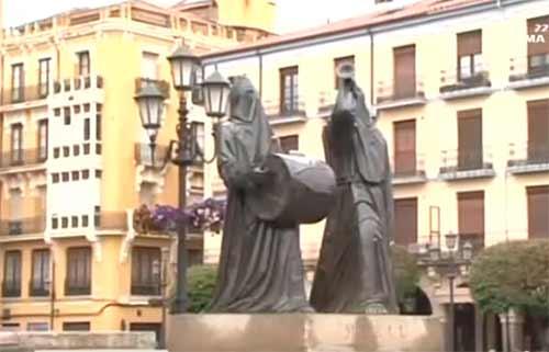 Monumento Merlu a la semana Santa de Zamora